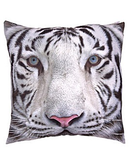 Decorative Snow Tiger Print Cushion