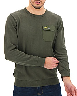 Voi Bate Pocket Crew Neck Jumper