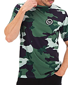Hype Forrest Camo T-Shirt Long