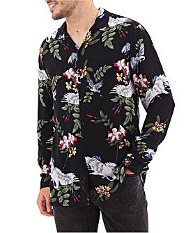 Religion Crane Floral Shirt