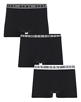 DKNY 3 Pack Black Logo Trunk
