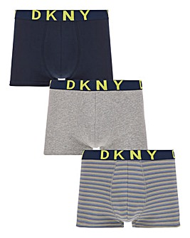 DKNY 3 Pack Stripe Neon Trunks