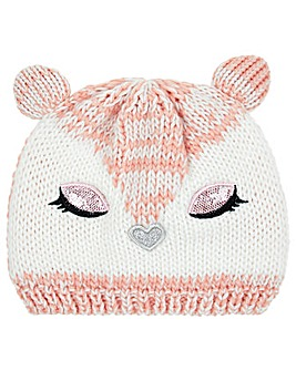 Monsoon Fluer Glamour Fox Beanie