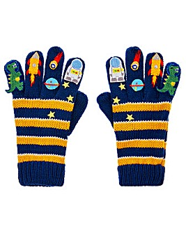 Monsoon Space Stripe Novelty Gloves