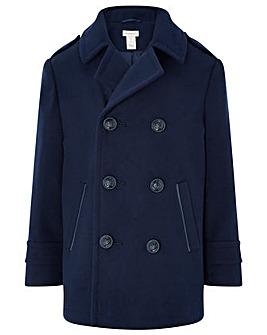 Monsoon Aiden Navy Pea Coat