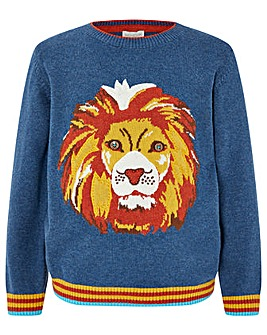Monsoon Landon Lion Knitted Jumper