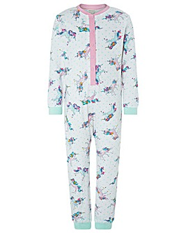 Monsoon Rebel Jersey Unicorn Sleepsuit