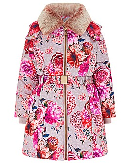 Monsoon Belle Print Padded Coat