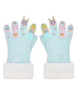 Monsoon Frosty Woodland Novelty Gloves