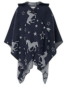 Monsoon Clarabelle Unicorn Poncho
