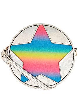 Accessorize Rainbow Star Round Bag