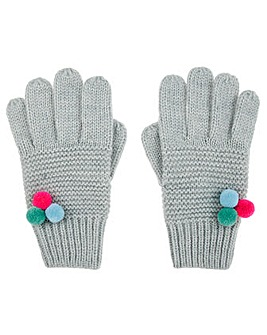 Accessorize Multi Mini Pom Pom Glove
