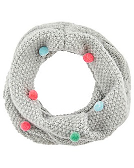 Accessorize Multi Mini Pom Pom Snood