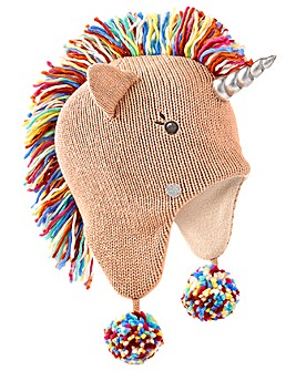 Accessorize Unicorn Rainbow Mane Chullo