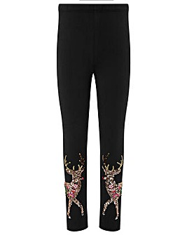 Monsoon Halle Reindeer Sequin Legging