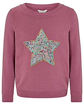 Monsoon S.E.W Caitlin Star Sweat Top