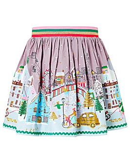 Monsoon Snow Scene Skirt