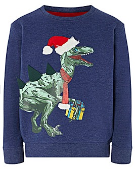 Monsoon Dino Christmas Jumper