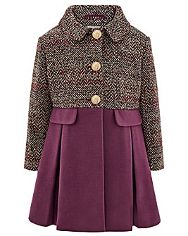 Monsoon Callie Tweed Coat