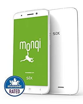 STK Monqi Kid Friendly Smart Phone White