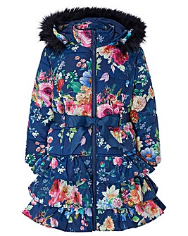 Monsoon Rochella Print Padded Coat