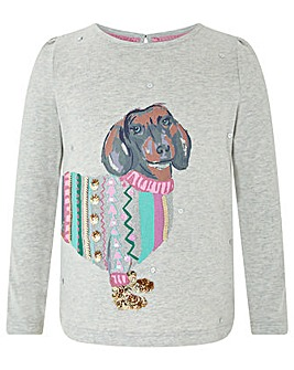 Monsoon S.E.W Dotty Sausage Dog Top