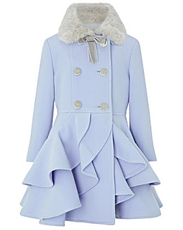 Monsoon Tallulah Ruffle Coat