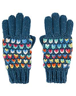 Accessorize Rainbow Waffle Glove