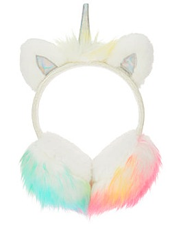 Accessorize Fluffy Unicorn Earmuff