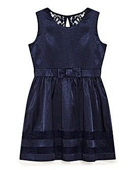 Yumi Girl Satin Bow Lace Trim Party Dres