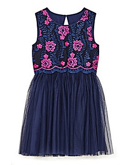 Yumi Girl Embroidered Mesh Prom Dress