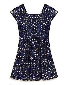 Yumi Girl Foiled Star Lace Dress