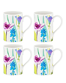 Portmeirion Water Garden Set of 4 Mugs