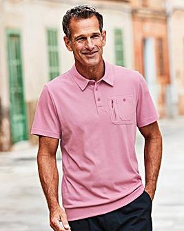 Premier Man Pink Welted Hem Polo R