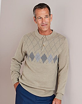Premier Man Polo Collar Jumper