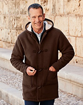 Premier Man Brown Fleece Duffle Coat