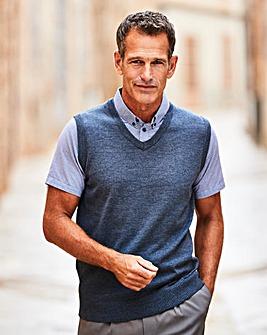 Premier Man Navy Mock Shirt Slipover R