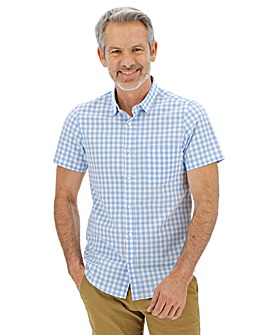 Premier Man Blue Gingham Shirt