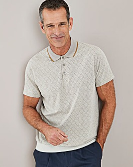 Stone Welted Hem Polo Shirt Regular