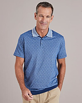 Blue Welted Hem Polo Shirt Regular