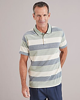 Green Stripe Polo Shirt Regular