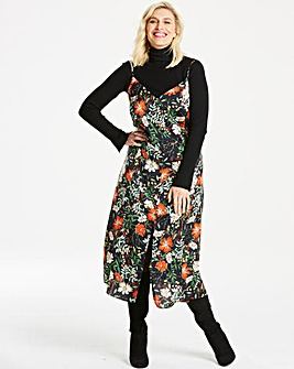 Lovedrobe Front Split Floral Print Cami Midi Dress