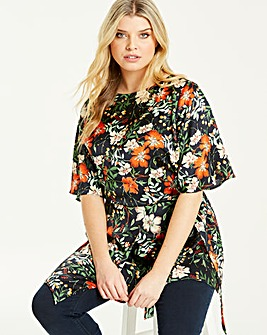 Lovedrobe Printed Asymmetric Blouse