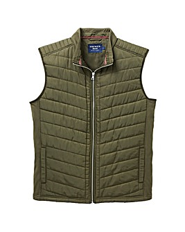 Khaki Fleece Lined Gilet Regular