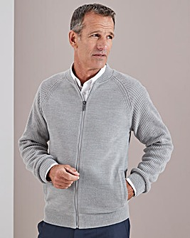 Grey Knitted Bomber