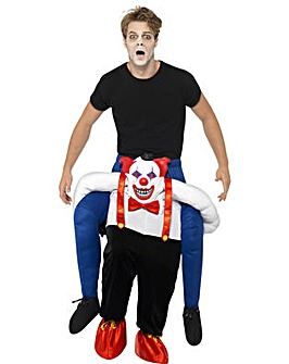 Halloween Sinister Clown Piggy Back