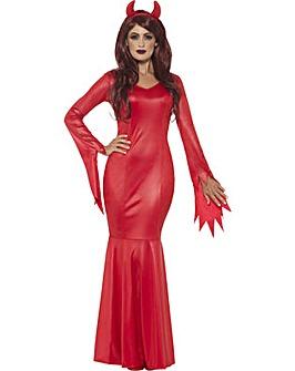 Halloween Devil Mistress Dress Costume