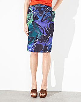 Print Jersey Pocket Skirt