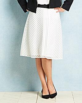 Mesh Stripe Skirt