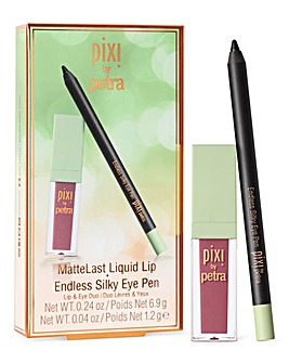 Pixi Liquid Lip - Really Rose & Silky Eye Pen - Black Noir Duo